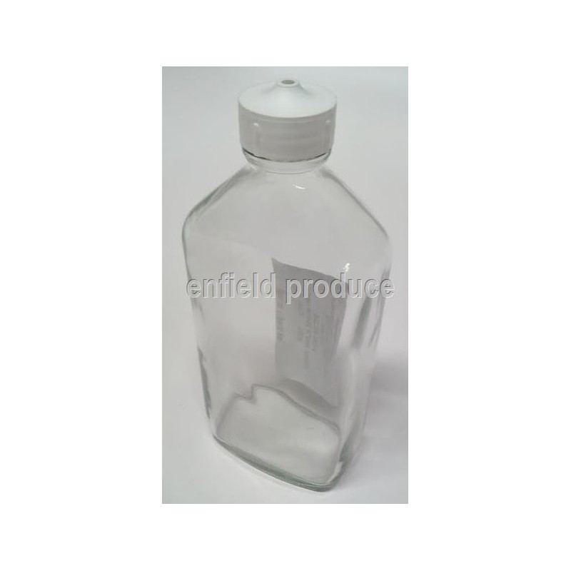 Canary Glass Drinking Bottle with cap and wire harness 200ml
