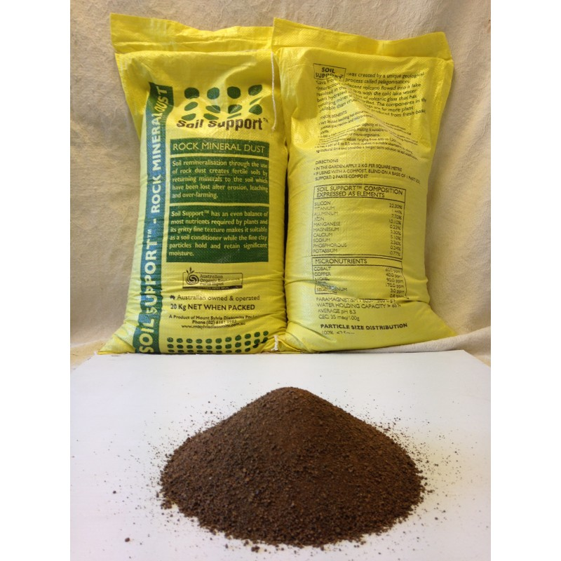 Palagonite soil support organic 20kg enfield produce for Organic soil for sale