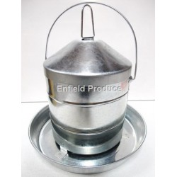 Galvanised Poultry Feeder w Handle 9 kg