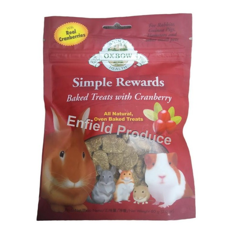 Oxbow Simple Rewards Timothy Treats 40g For Sale Shop