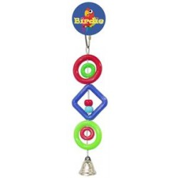 Birdie - Small Plastic Rings/Beads with Bell