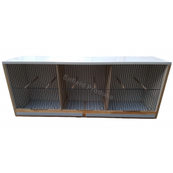 Breeding Cabinet for Canaries (Triple Compartment)