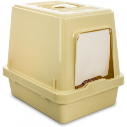 Oz Pet Hooded Tray Set - Beige