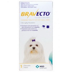 Bravect-o Flea & Tick Chew For Extra Small Dogs Single Chew