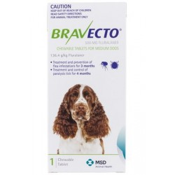 Bravect-o Flea & Tick Chew For Medium Dogs Single Chew