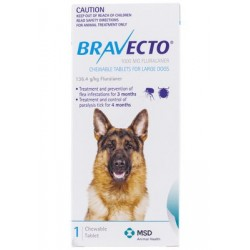 Bravect-o Flea & Tick Chew For Large Dogs Single Chew