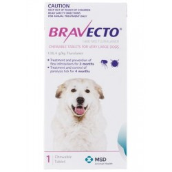 Bravecto Flea & Tick Chew For Extra Large Dogs Single Chew