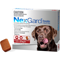 Nex-Gard Flea And Tick Chews For Large Dog 25.1-50kg