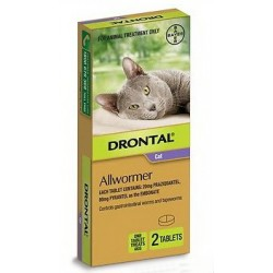 Drontal Cat All Wormer 6kg 2Pk Tablets