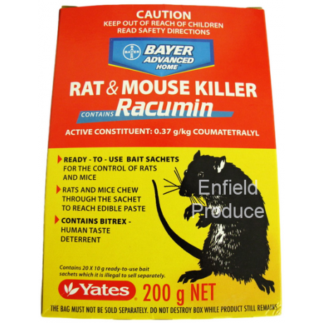 Doves For Sale >> Rat & Mouse Killer Racumin 200 g ( 20 x 10g) - Bayer