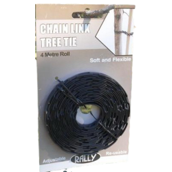 Rally Chain Link Tree Tie Black 4m