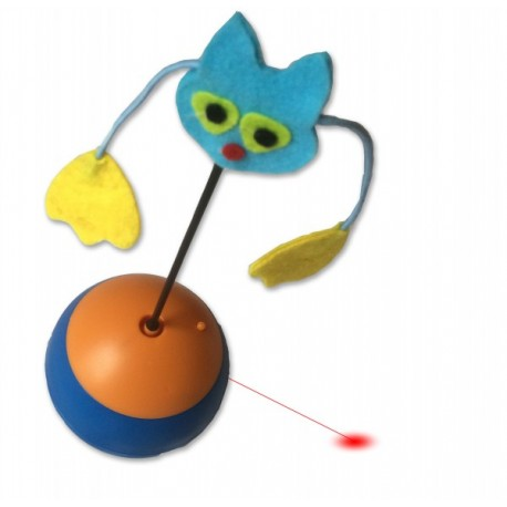 PetObsessed Tumbler Treat Cat Laser Toy