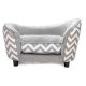 PetObsessed Luxury Lounge Dog Sofa Black/Grey Zebra.