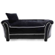 PetObsessed Velvet Luxury Black Velvet Dog Sofa