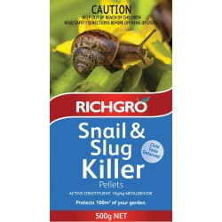 Richgro Snail & Slug Killer Pellets 500g