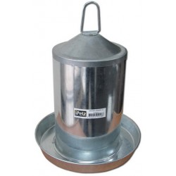 Galvanised Poultry Waterer w Handle 3 kg
