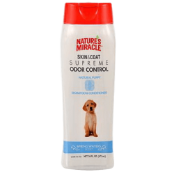 Nature's Miracle Skin & Coat Supreme Odor Control Puppy Shampoo & Conditioner (473ml)