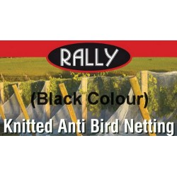 Black Coloured Knitted Anti-Bird Netting