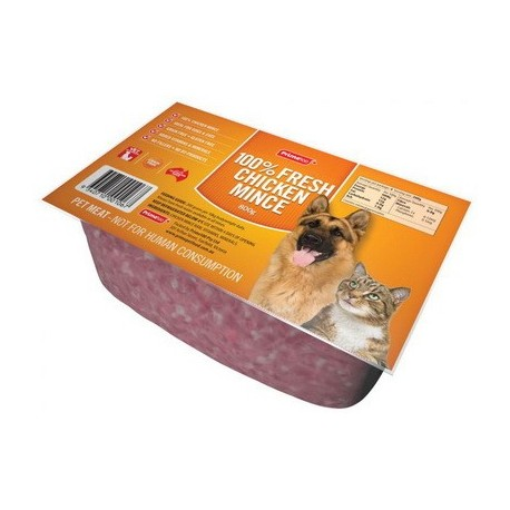 Prime100 Pet Mince 100% Fresh Chicken Mince 800g