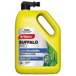 Yates Buffalo Pro Lawn Weedkiller Bindii & Clover 2L Hose On