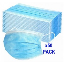 Surgical Face Masks Disposable 3Ply (FFP 3 EN Standard) 50 Pack