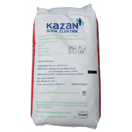 Kazan Soda Sodium Bicarbonate (Feed Grade) 25kg